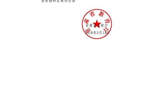 甘肃省教育厅关于下达全省体育卫生与健康教育美育国防教育专项任务资助和自筹项目的通知-正文